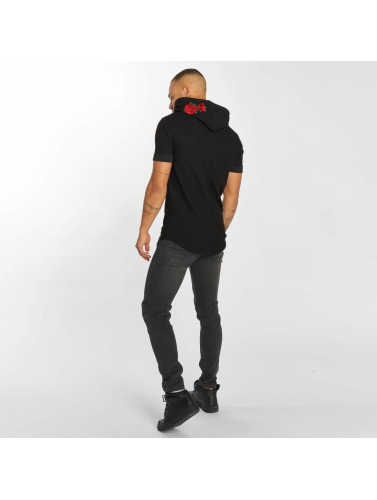 Hechbone Hombres Camiseta Roses in negro
