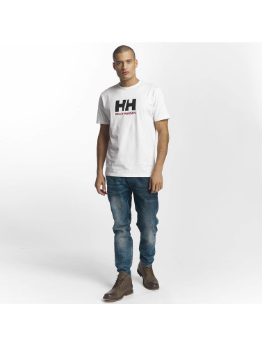 Helly Hansen Hombres Camiseta Logo in blanco
