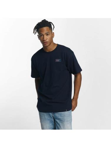 HUF Hombres Camiseta Gradient Bar Logo in azul