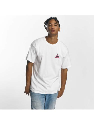HUF Hombres Camiseta Dimensions Triangle in blanco
