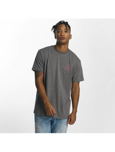 HUF Hombres Camiseta Triple Triangle in gris