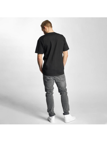 HUF Hombres Camiseta Riot Box Logo in negro