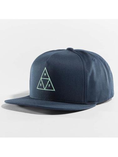 HUF Snapback Cap Triple Triangle in blau