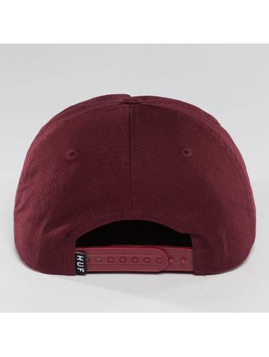 HUF Snapback Cap Box Logo in rot