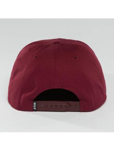 HUF Snapback Cap Bar Logo in rot