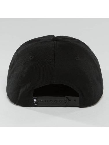HUF Snapback Cap Bar Logo in schwarz