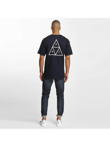 HUF Herren T-Shirt Triple Tiangle in blau