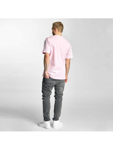 HUF Herren T-Shirt Box Logo Puff in rosa