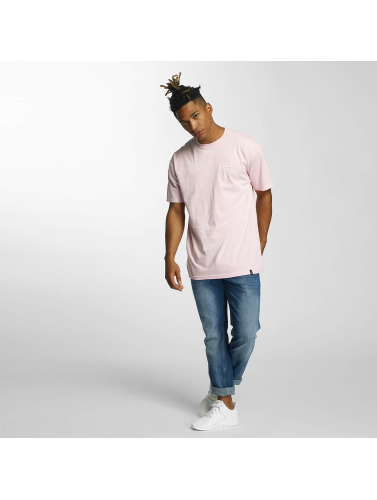 HUF Herren T-Shirt Puff Bar Logo in rosa