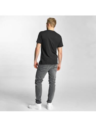 HUF Herren T-Shirt Overdye Bar Logo in schwarz