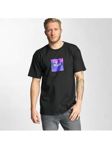 HUF Herren T-Shirt Riot Box Logo in schwarz