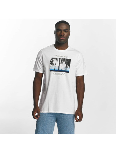 Hurley Hombres Camiseta Sunrays in blanco