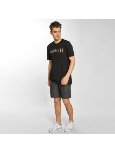 Hurley Hombres Camiseta One & Only Push Through in negro