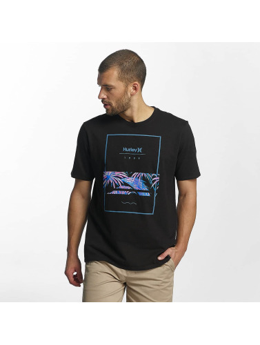 Hurley Hombres Camiseta Chasing Paradise in negro