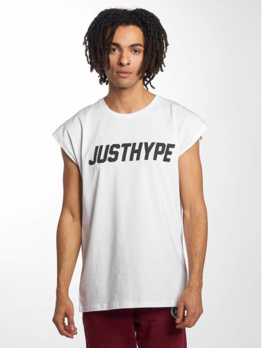 HYPE Hombres Camiseta Sporting in blanco