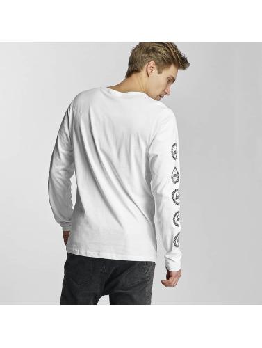 HYPE Hombres Camiseta de manga larga Crest in blanco