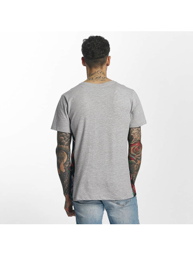 HYPE Hombres Camiseta Flower Bed Boxy in gris
