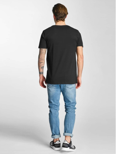 HYPE Hombres Camiseta Flower Circle in negro