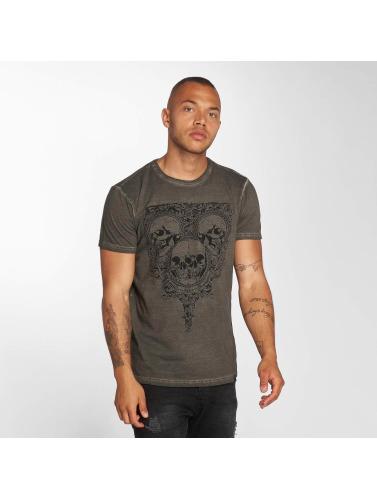 Indicode Hombres Camiseta Foggia Box in gris