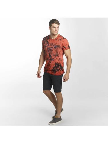Indicode Hombres Camiseta Val-dór in naranja