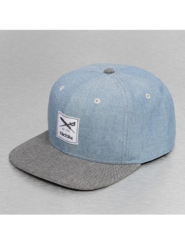 Iriedaily Snapback Cap Flag Chambray in blau