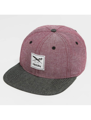 Iriedaily Snapback Cap Flag Chambray in rot