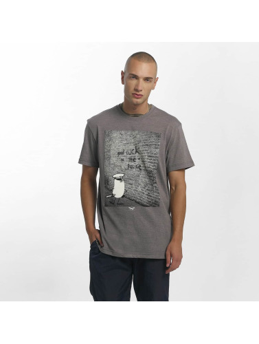 Iriedaily Herren T-Shirt Good Luck in grau