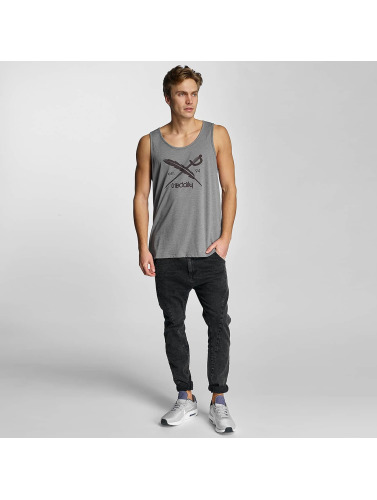 Iriedaily Herren Tank Tops Daily Flag in grau