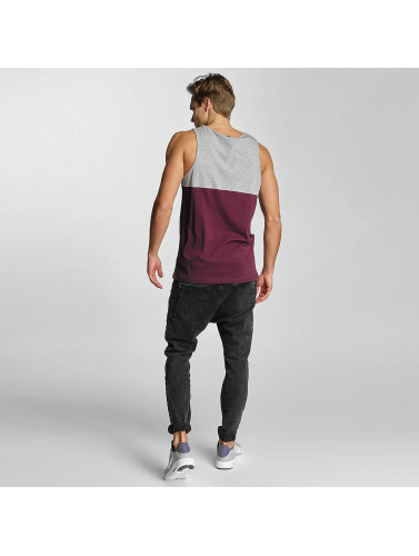 Iriedaily Herren Tank Tops Block Pocket in rot