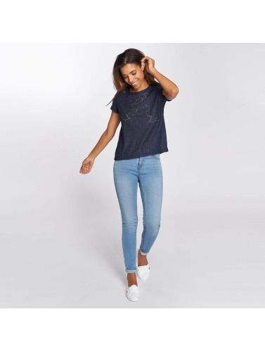 JACQUELINE de YONG Mujeres Camiseta jdyTag Lace in azul