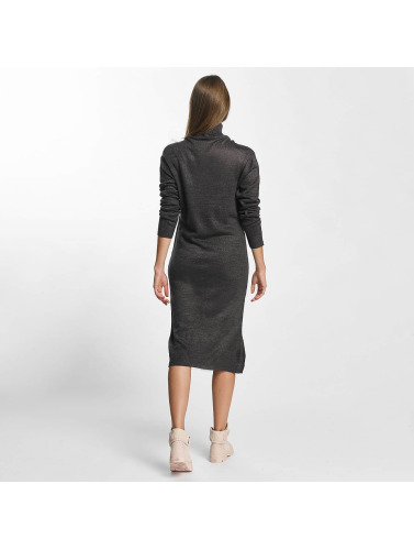 JACQUELINE de YONG Damen Kleid jdySilk Plain in grau