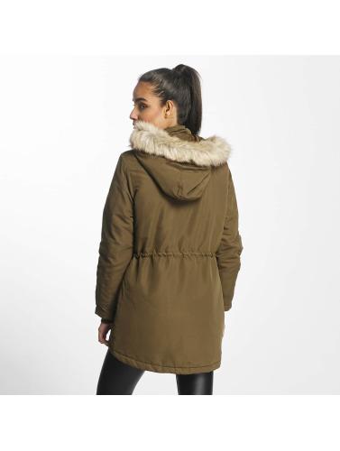Jacqueline De Yong Ladies Coat Jdstar Case In Olive