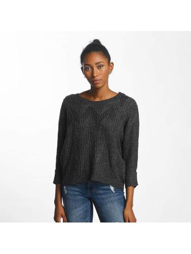 JACQUELINE de YONG Damen Pullover jdyRosanna Knit in grau