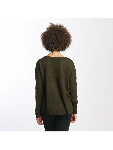 JACQUELINE de YONG Damen Pullover jdyKeeks in olive
