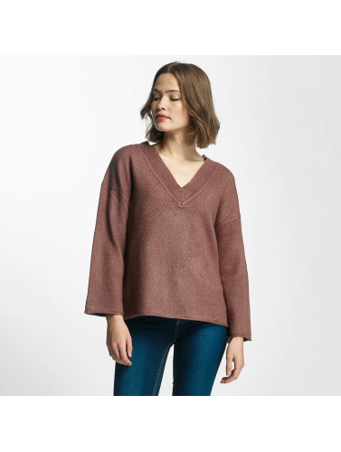 JACQUELINE de YONG Damen Pullover jdyDuo V-Neck in rosa