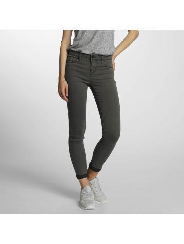 JACQUELINE de YONG Damen Skinny Jeans jdySkinny Low in grau