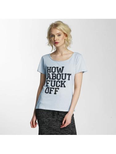 JACQUELINE de YONG Damen T-Shirt jdyGlow Print in blau