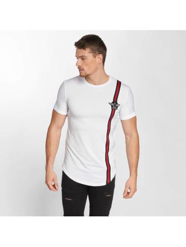 John H Hombres Camiseta Wing Logo in blanco