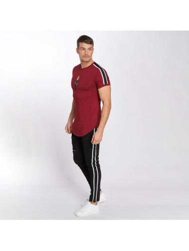 John H Hombres Camiseta Bande in rojo