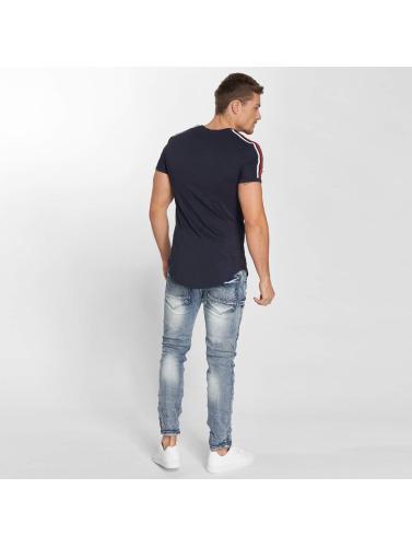 John H Hombres Jeans ajustado Roses in azul
