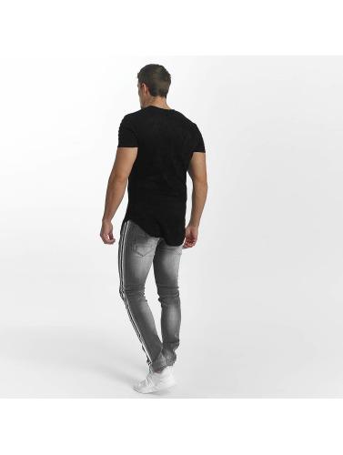 John H Hombres Jeans ajustado Rose Tape Stripe in gris