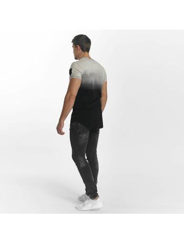 John H Hombres Jeans ajustado Diagonal Splatters in negro