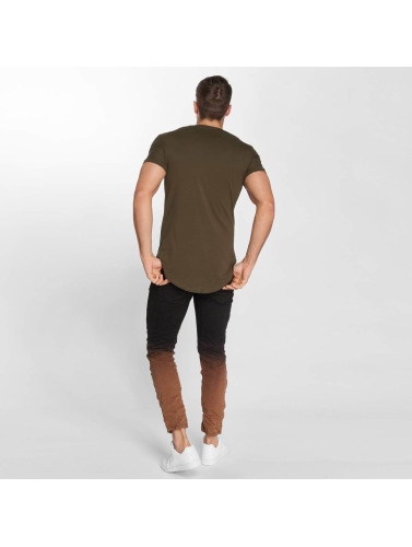John H Hombres Jeans ajustado 2 Tone in negro