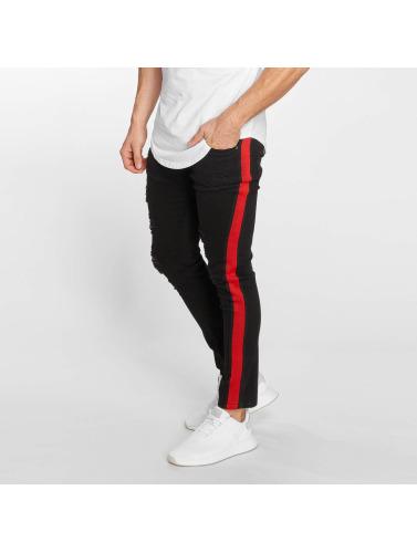 John H Hombres Jeans ajustado Mason in negro