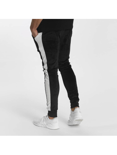 John H Herren Jogginghose Stripe in schwarz