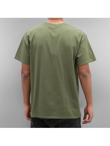 Joker Hombres Camiseta Lifestyle in oliva