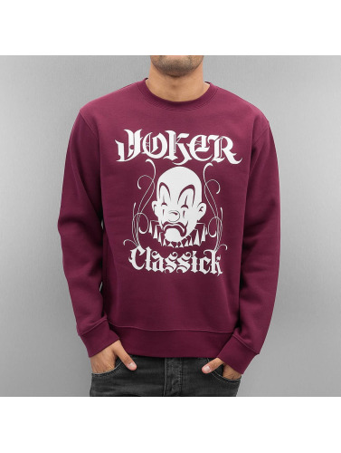 Joker Herren Pullover Classick Clown in rot