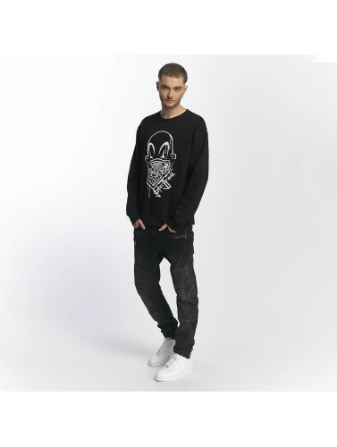 Joker Herren Pullover Clown Brand in schwarz