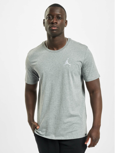 Jordan Herren T-Shirt Sportswear Jumpman Air Embroidered T-Shirt in grau