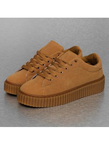 Jumex Damen Sneaker Basic Plateau in braun